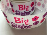 Big Sister Flower Grosgrain Ribbon