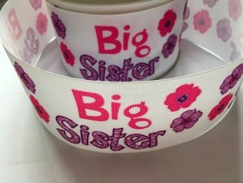 Big Sister Flower Grosgrain Ribbon