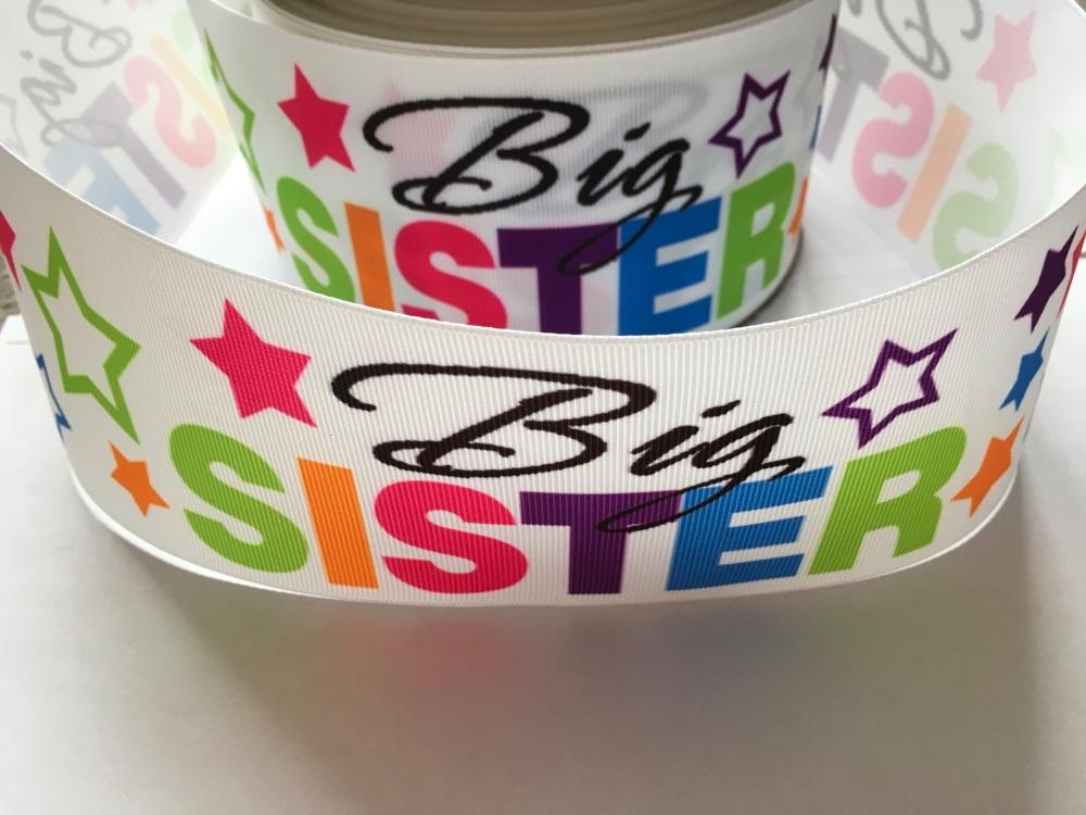 Big Sister Star Grosgrain Ribbon