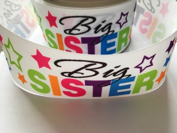Big Sister Star Grosgrain Ribbon