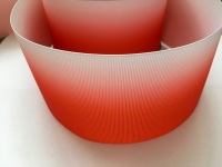 Bright Red Ombre Grosgrain Ribbon