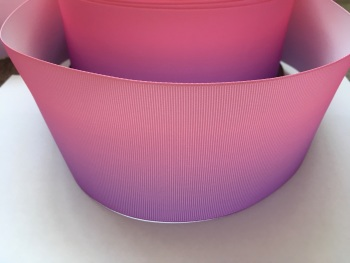 Light Pink/Lilac Ombre Grosgrain Ribbon