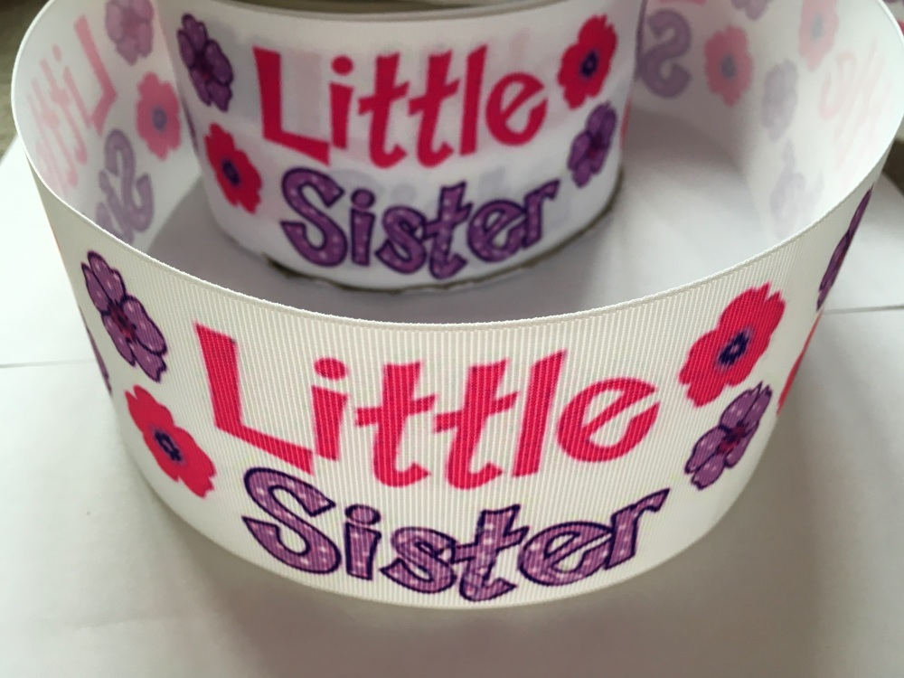 Little Sister Flower Grosgrain Ribbon