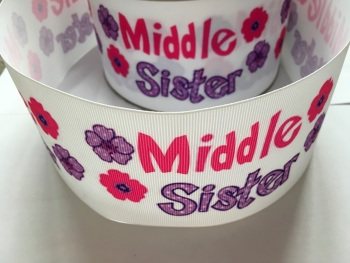 Middle Sister Flower Grosgrain Ribbon