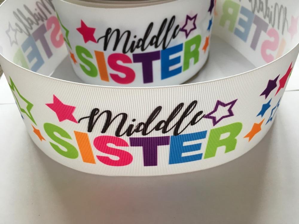 Middle Sister Star Grosgrain Ribbon