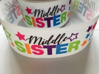 Middle Sister Star Grosgrain Ribbon