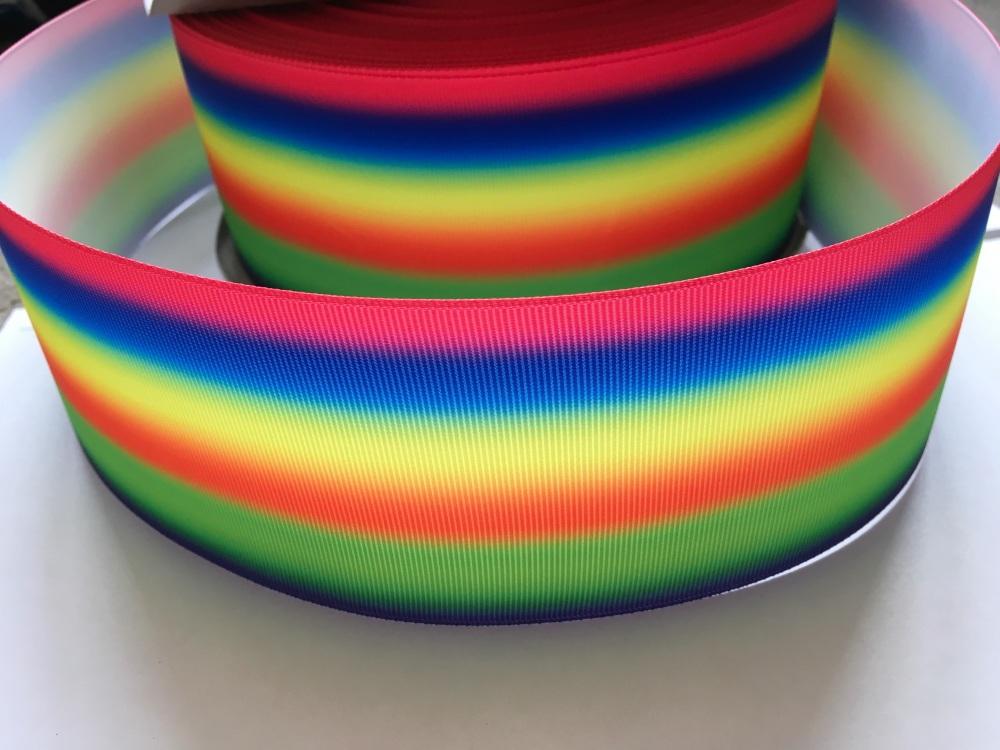 Neon Horizontal Ombre Grosgrain Ribbon