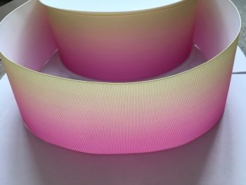 Pink/Yellow Ombre Grosgrain Ribbon