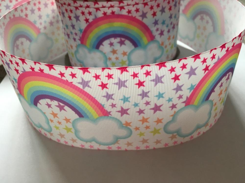 Rainbow & Star Grosgrain Ribbon