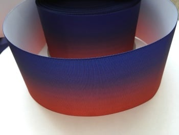 Red/Purple Ombre Grosgrain Ribbon