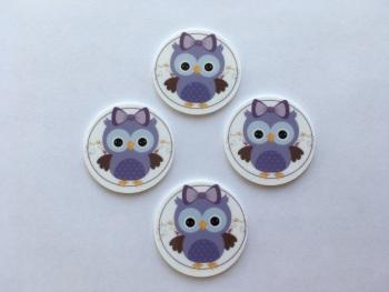 Circular Owl Laser Resin