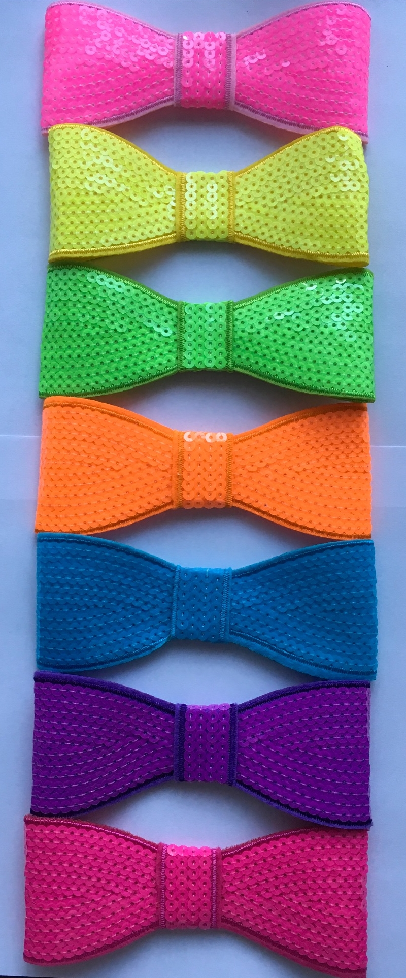 Large Neon Sequin Bow
