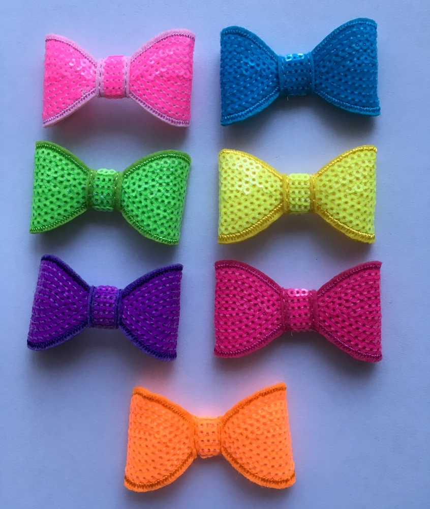 Medium Neon Sequin Bow without Tail