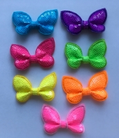 Neon Butterfly Sequin Bow