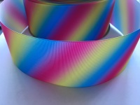 Bright Diagonal Ombre Grosgrain Ribbon