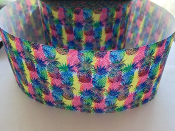 Colourful Pineapple Grosgrain Ribbon