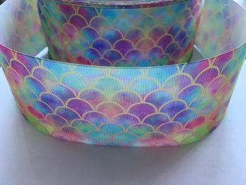Gold Scale on Ombre Grosgrain Ribbon