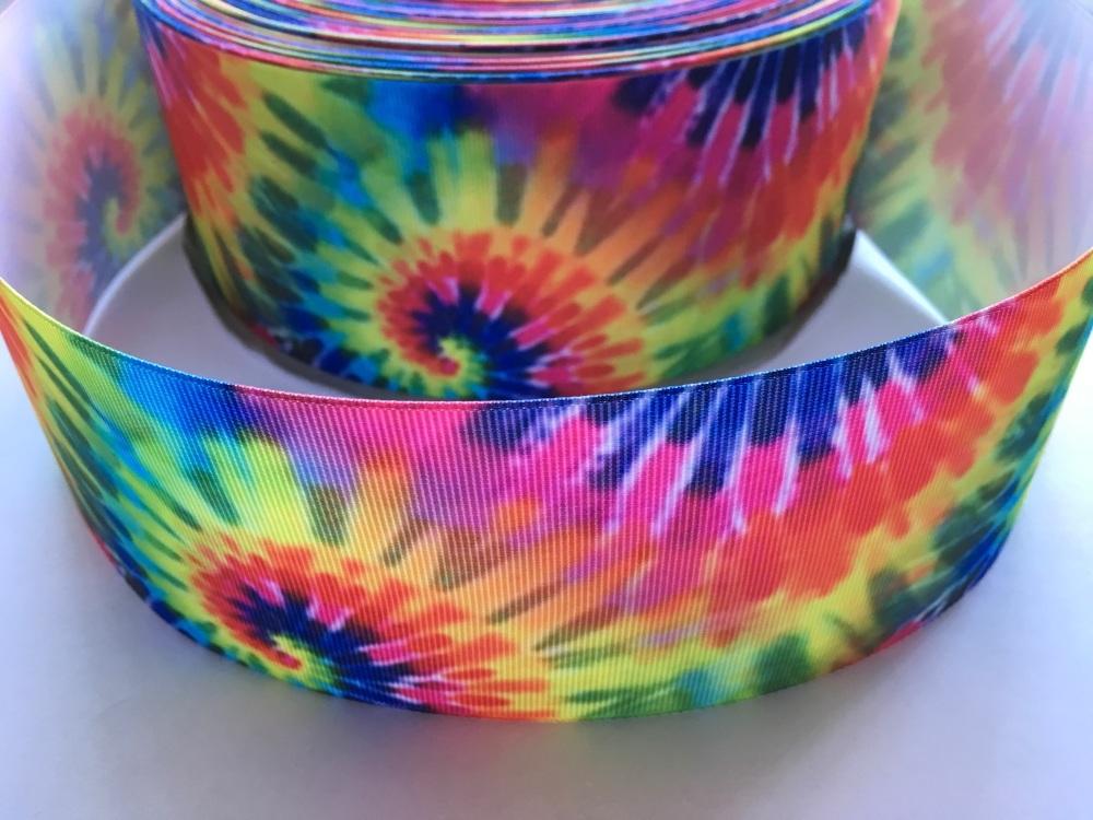 Hippie Tie Dye Grosgrain Ribbon