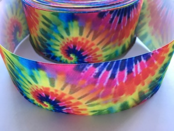 Hippie Tie Dye Grosgrain Ribbon