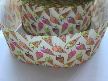 Icecream Grosgrain Ribbon