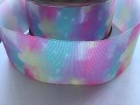 Pastel Galaxy Grosgrain Ribbon