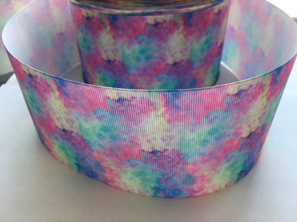 Pastel Watercolour Grosgrain Ribbon
