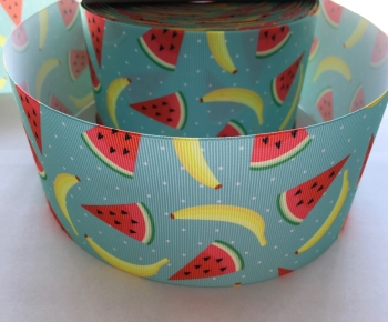 Watermelon & Banana Grosgrain Ribbon