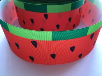 Watermelon Pattern Grosgrain Ribbon