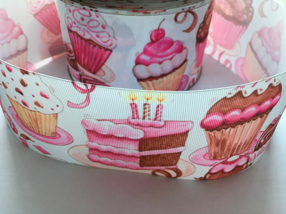 Yummy Cakes Grosgrain Ribbon