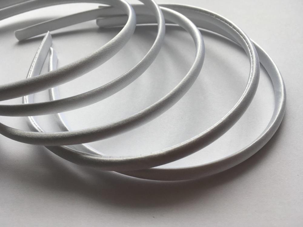 7mm White Satin Headbands