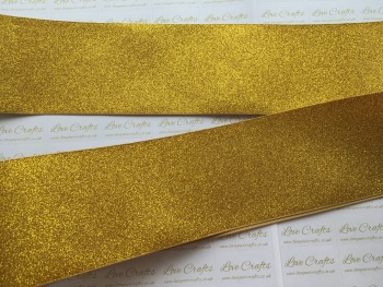 "3"" Gold Glitter Grosgrain Ribbon"