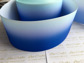 Light Blue/Electric Blue Ombre Grosgrain Ribbon