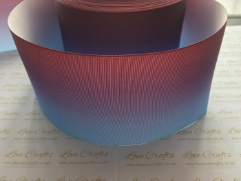 Light Blue/Wine Ombre Grosgrain Ribbon