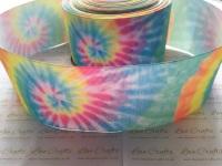 Pastel Hippie Tie Dye Grosgrain Ribbon