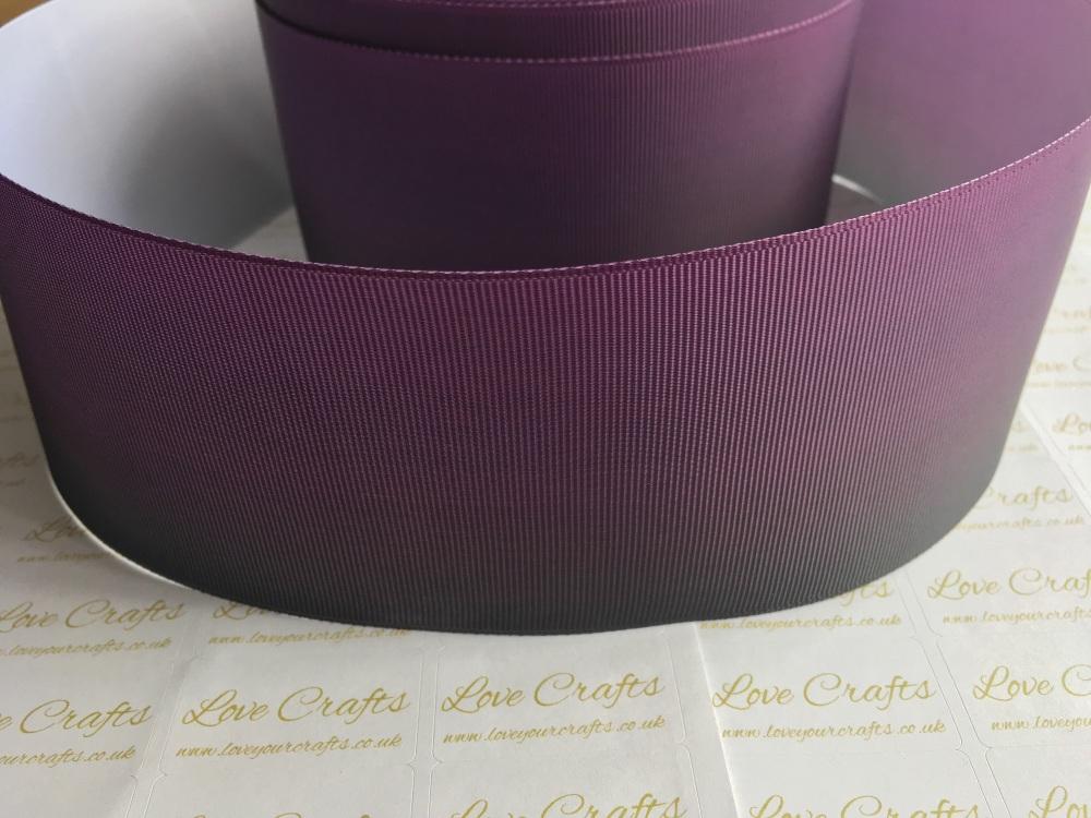 Purple/Black Ombre Grosgrain Ribbon