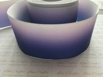 Purple/Grey Ombre Grosgrain Ribbon