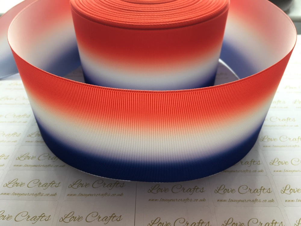 Red/White/Blue Ombre Grosgrain Ribbon