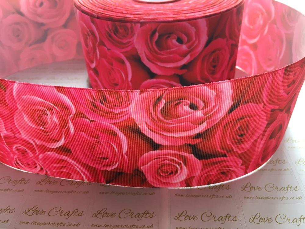 Rose Grosgrain Ribbon