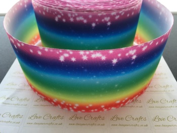 Bright Rainbow Ombre Grosgrain Ribbon
