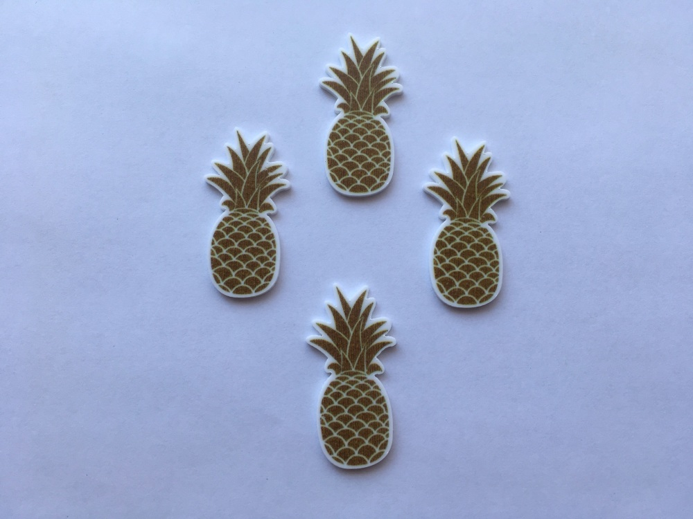 Gold Pineapple Laser Resin