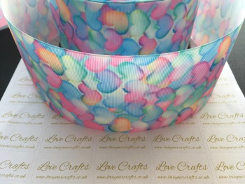 Pastel Hearts Grosgrain Ribbon