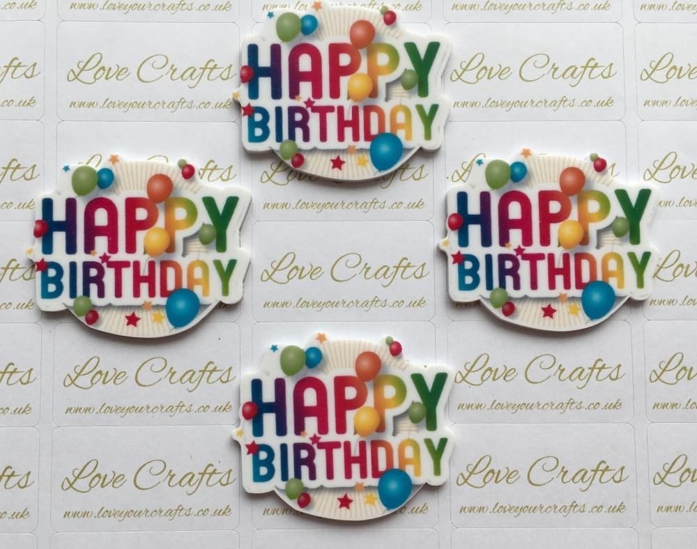 Happy Birthday Laser Resin