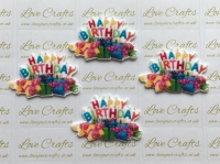 Happy Birthday Presents Laser Resin
