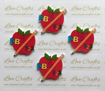 School Apple Laser Resin
