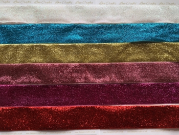 "1.5"" Metallic Glitter Velvet Ribbon"