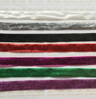 20mm Metallic Glitter Velvet Ribbon
