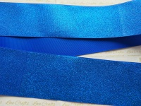 "3"" Blue Glitter Grosgrain Ribbon"