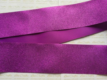 "3"" Purple Glitter Grosgrain Ribbon"