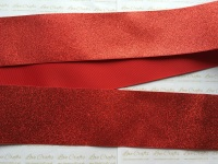 "3"" Red Glitter Grosgrain Ribbon"