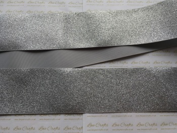 "3"" Silver Glitter Grosgrain Ribbon"